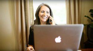 Craft & Communicate | Jen speaking on smartphone