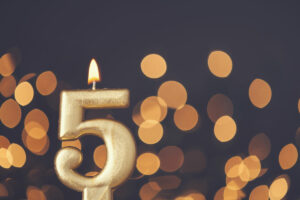 Craft & Communicate | Fifth Birthday candle