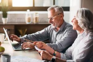 Craft & Communicate | Seniors viewing colorful screen