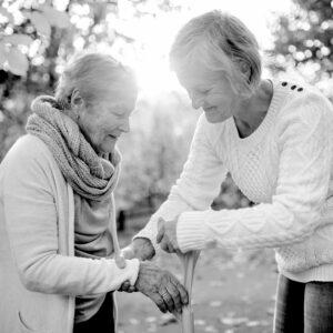 Craft & Communicate | Senior receiving help