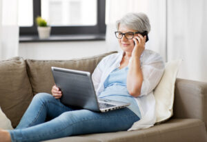 Craft & Communicate | Senior using her laptop