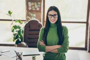 Craft & Communicate | Professional in green sweater